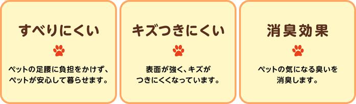 ペット住まいるフロアの3つの特徴